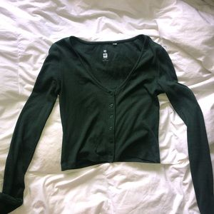 Green Pacsun Cropped Long Sleeve